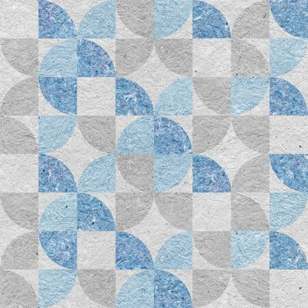 Interior wall panel pattern - seamless background - Design wallpaper - decorative wrapping paper - granular white-blue surface