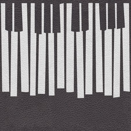 Abstract musical piano keys - seamless background - Black and white coloring Stock Photo