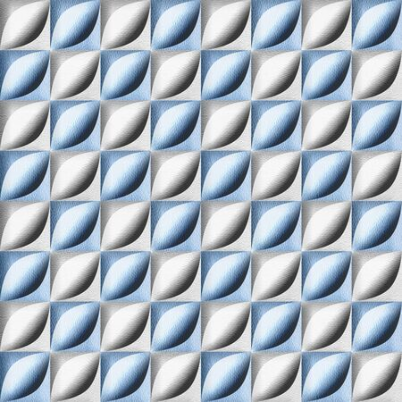Abstract bean pattern - seamless background - interior wallpaper - blue-white coloring