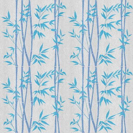 Decorative bamboo branches. Bamboo forest background. White-blue coloring seamless patterns. Interior Design wallpaper.