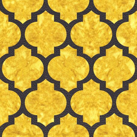 Decorative oriental style - Interior wall decoration - seamless background - Black and Gold surface - Use as wallpaper or wrapping paper