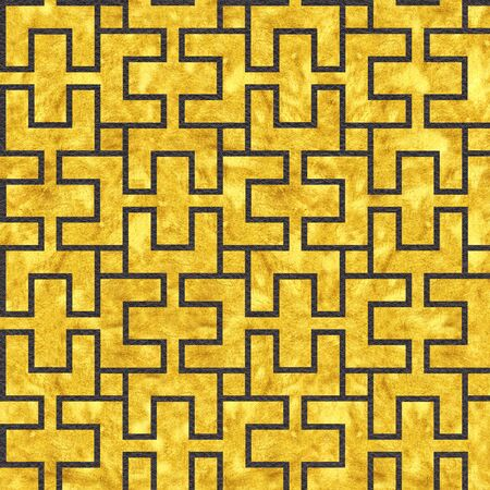 Gold art deco panels - Decorative interior grid - seamless background - Use as wallpaper