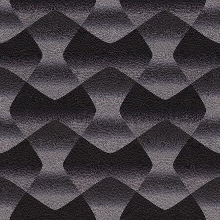 Alternating abstract ribbon decorative pattern - Interior wall decoration - seamless background - Black textured pattern Stockfoto