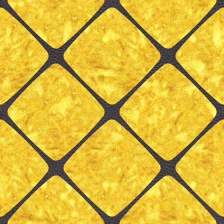 Golden decorative tiles - Use as wallpaper or wrapping paper - seamless background