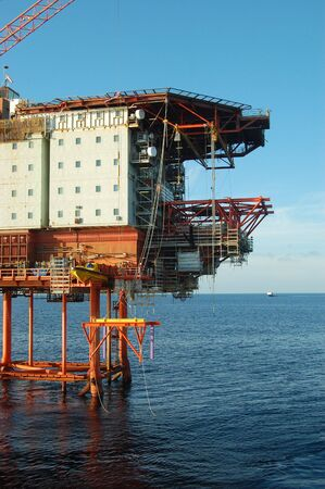 Oil platform in the Nortth Sea