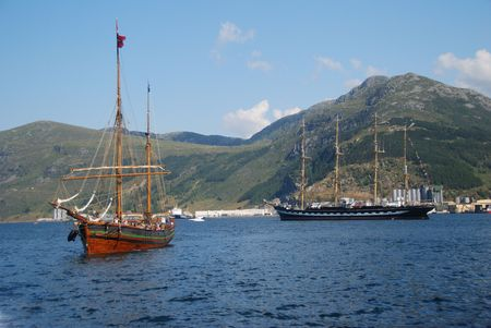 Tall Ship Races in Maaloey, Norway Stock Photo