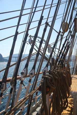 foretop: Tall Ship Races in Maaloey, Norway Stock Photo
