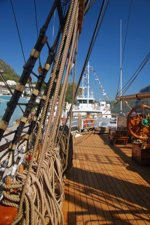 brigg: Tall Ship Races in Maaloey, Norway Stock Photo