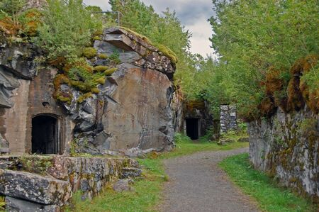 Old fortress in Trondheim, Norway Stock Photo
