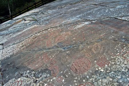 archetypal: Rock carvings al Lerfald in Norway