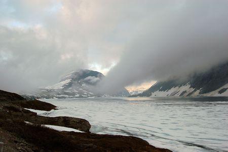 Winter landscape in Norway. photo