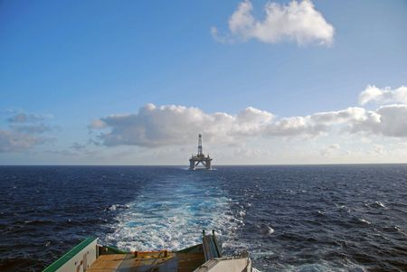 Towing of an Semi submersible rig. Stock Photo - 4700918