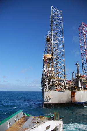 Offshore rig move of an Jack-Up rig. Stock Photo - 4700954
