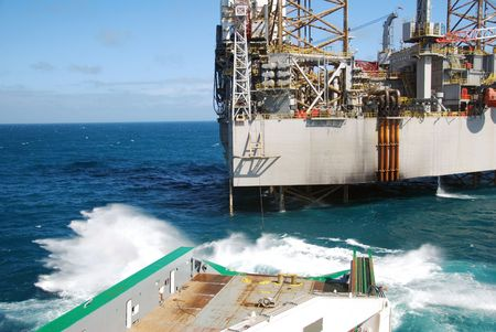 Offshore rig move of an Jack-Up rig. Stock Photo - 4704549