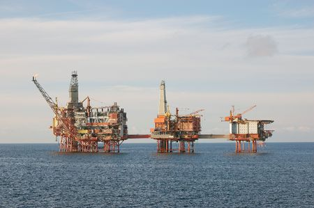 oilfield: Oil field in North Sea