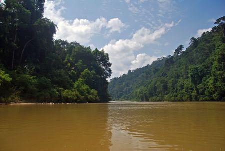 Rivertrip in Taman Negara, Malaysia. Stock Photo