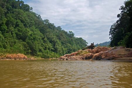 taman: Rivertrip in Taman Negara, Malaysia. Stock Photo