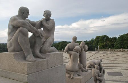 Vigeland sculpture park in Oslo, Norway Stock Photo