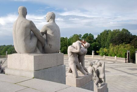 intimate: Vigeland sculpture park in Oslo, Norway Stock Photo