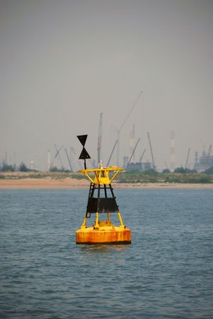 Aids to Navigation, west Cardinal buoy.