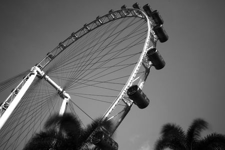Singapore Flyer at Marina Bay