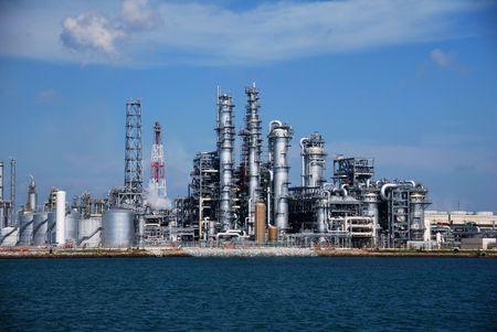 petrochemie industrie: Raffinaderij in Singapore