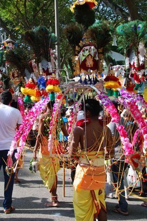 happening: Singapore, January, 30, 2010 - Thaipusam festival in Little India. Editorial