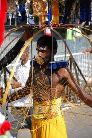 Singapore, January, 30, 2010 - Thaipusam festival in Little India. Editorial
