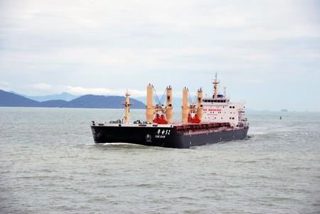 Hong Kong, May, 20, 2010 - Bulk carrier entering Hong Kong waters.