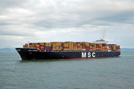 Hong Kong, May, 20, 2010 - Container vessel entering Hong Kong waters. Editorial