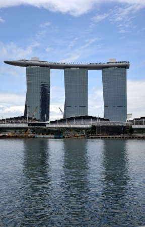Singapore, August, 29, 2010 - Marina Bay Sands. Stock Photo - 7738758