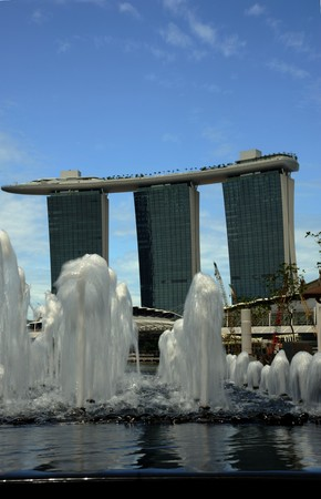 Singapore, August, 29, 2010 - Marina Bay Sands.