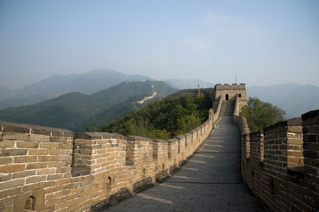 beijing: The Great Wall of China Stock Photo