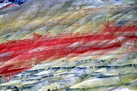 wheeler: Painted Hills in John Day Fossil Beds National Monument, Wheeler County, Oregon, US Stock Photo