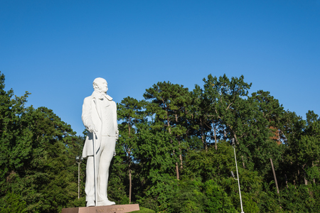 Giant statue of Sam Houston located near highway I-45 in Texas, US clear blue sky. American politician and soldier, best known for role in bringing Texas into the United States as a constituent state Stock fotó