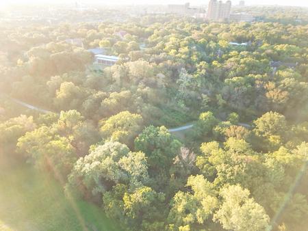 Top view Kessler park community in suburbs Dallas, Texas