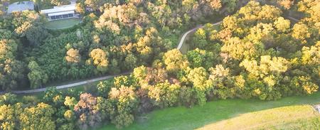 Panoramic top view Kessler park community in suburbs Dallas, Tex Фото со стока