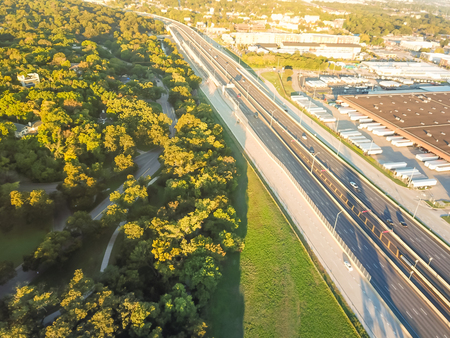 Top view Kessler Park community near downtown Dallas, Texas