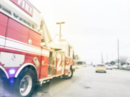 Abstract blurred fire truck rescue car accident on the road Reklamní fotografie