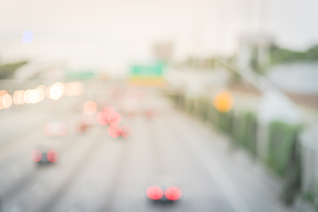 Filtered image blurry background motion traffic on Interstate Highway 69 Houston 版權商用圖片