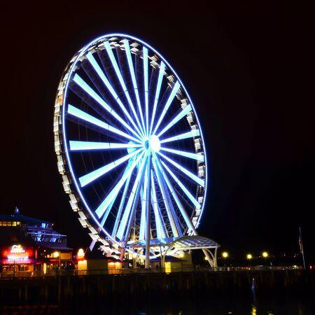 Seattle Great Wheel is a giant Ferris wheel at Pier 57 on Elliott Bay in Seattle, Washington, USA.