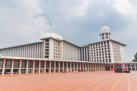 Exterior view of Istiqlal Mosque in Indonesia the biggest mosque in South East Asia