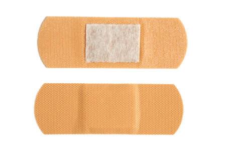 bactericidal: Bactericidal adhesive plaster on white background