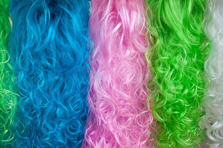 peruke: Colorful  wigs abstract background