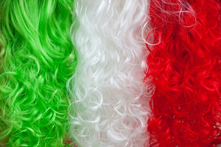 tricolour: Tricolour wigs abstract background Stock Photo