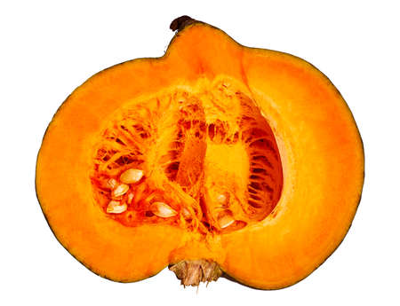 large pumpkin: Large cutting pumpkin on white isolated Stock Photo
