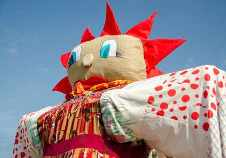 Shrovetide, traditional event symbolizing spring beginning close up Archivio Fotografico