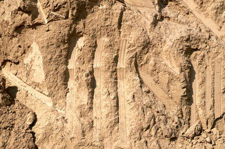 Slice of clay soil daylight Archivio Fotografico
