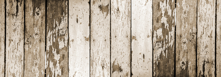 Old wooden surface with cracked paint outdoor panoramic view Archivio Fotografico