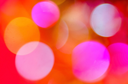 Abstract Christmas background with colorful bokeh. Archivio Fotografico